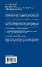 diagnostic assessment of learning disabilities in childhood diagnostic assessment of learning disabilities in childhood bridging the gap between research and practice contemporary issues in psychological