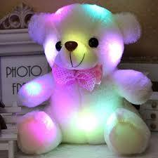 Online Shop <b>New Arrival</b> 20CM Colorful Glowing Teddy Bear ...