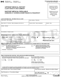 panel members handbook  sample of imm 1017b upfront upfront medical report client biodata and summary page 2