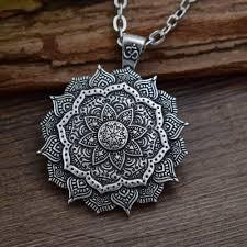 SanLan античный <b>серебряный</b> кулон с мандалой Ом, Йога ...