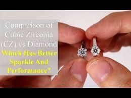 <b>Cubic Zirconia</b> (<b>CZ</b>) vs <b>Diamond</b> [Comparison in Different Lightings ...
