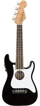 <b>Fender Fullerton Strat</b> Uke Black <b>укулеле</b>, цвет черный купить в ...