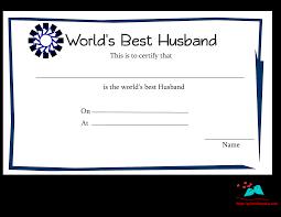 printable world s best husband certificates world s best husband certificate blue border