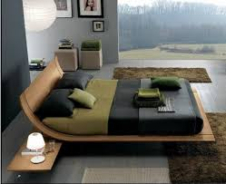 awesome wooden bed design with awesome white brown wood unique design cool