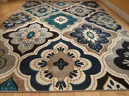 casual blue yellow rug new modern blue gray brown x rug area rug casual x area rug large x co