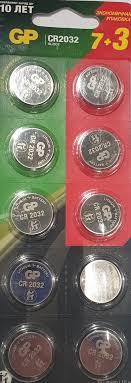 <b>Элемент питания</b> CR-2032 (10 шт) <b>GP</b> — купить в интернет ...
