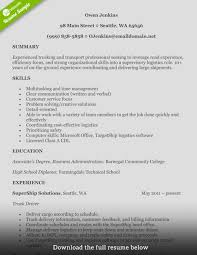 doc professional rock truck driver resume sample how to write a perfect truck driver resume examples