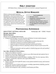 Sample Medical Office Manager Resume Resume Office Manager Office ... office ...