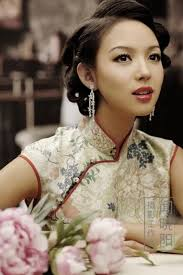 <b>Vintage classic</b> 1920's style updo or hairstyle for <b>traditional Chinese</b> ...