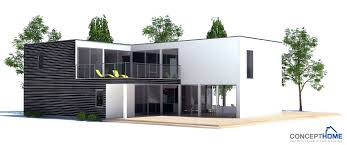 Large contemporary home plan   four bedrooms  Open areas and    House Plan CH