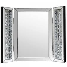 table mirror: trifold mirror  way dressing table mirror floor length mirrors