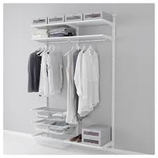 closet systems algot system ikea wall uprightshelvesrod white width 52 depth 15 home decorations algot white wall mounted storage solution