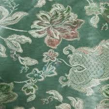 Green Floral Upholstery <b>Velour</b> | Fabric UK