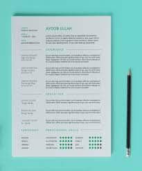 clean resume template design resources clean resume template