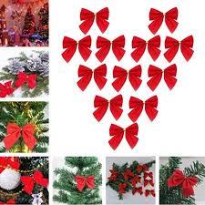 Cheers 36Pcs 6cm Solid Color <b>Bowknot Christmas Tree Garland</b> ...