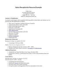 resume sample receptionist cv examples medical receptionist resume resume examples medical receptionist resume qualification objective for spa receptionist resume objective for a salon