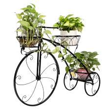Artisasset Paint <b>Bicycle</b> Cart <b>Shape</b> 3 <b>Plant Stand</b> Black Living ...
