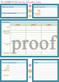 best images of babysitting calendar printables printable printable babysitter checklist template