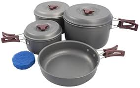 <b>AceCamp</b> Hard-Anodized Portable Camping Cookware <b>Set</b> ...