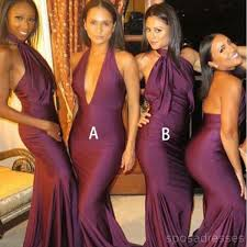 <b>Sexy</b> Mismatched <b>Burgundy</b> Mermaid Long <b>Bridesmaid</b> Dresses ...
