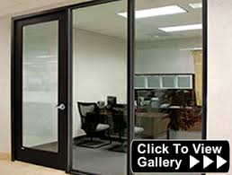 aluminum and wood doors available sliding aluminum doors and sliding wood door kits optional accepts 14 38 12 and 916 6 10 12 aluminum office partitions