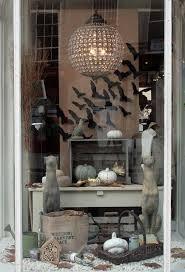love halloween window decor: window decor stylish halloween look swarm of black paper bats