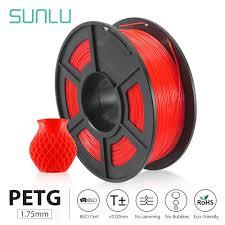 PETG 3D Printer Filament 1.75mm 1KG 2.2lbs Spool support ...