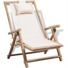 vidaXL <b>Deck Chair Bamboo</b> | <b>Deck chairs</b>, <b>Bamboo outdoor</b>, <b>Outdoor</b> ...