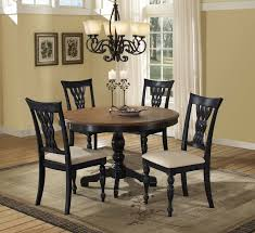 round black wood dining table