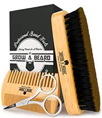 Beard Brush, Comb, & Scissors Grooming Kit for ... - Amazon.com