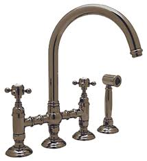 country kitchen column spout: rohl axmwsapc  axmws  country kitchen high arc bridge faucet with side spray polished chrome touch on kitchen sink faucets amazoncom