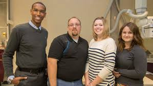 community college students get awards from essay competition    submitted photo shown from left  radiography award winners malcom hopkins  eli geise  m da