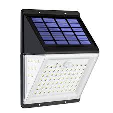 shark led solar light pir motion sensor lamp waterproof powered spotlights wall for outdoor garden decoration