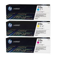 Оригинальный <b>картридж HP</b> 3-Pack CF381A (<b>№312A</b>) (голубой ...