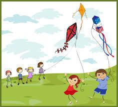 kids flying kites back to memories and kites clip art of all kinds of kites box kites red kites blue kites and people flying kites