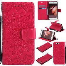 Huawei P10 <b>Sunflower Luxury Leather Wallet</b> Case with Card Slots ...