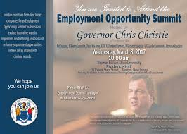 governor christie new jersey reentry corporation to co host employmentopportunitysummit
