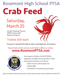 spring crab feed fundraiser rosemont high school ptsa crab feed 2017 flyer 1