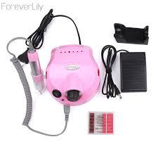<b>35000</b> RPM Pink 30w <b>Professional Electric</b> Nail Art Drill File ...