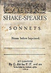 william shakespeare   wikipedia sonnets