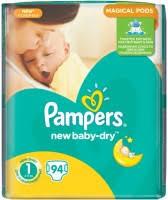 <b>Pampers New Baby</b>-<b>Dry</b> 1 / 94 pcs – купить <b>подгузники</b>, сравнение ...