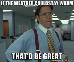 If the weather couldstay warm that'd be great - Bill Lumbergh ... via Relatably.com