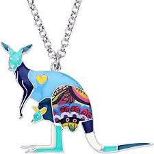 Bonsny Enamel Zinc Alloy Australia Kangaroo Choker ... - Amazon.com