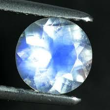 1.06 Cts <b>Natural</b> Royal Blue <b>Moonstone 7mm Round</b> Cut