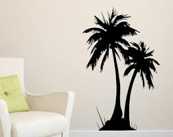 palm tree wall stickers: tropical palm tree wall decal palm tree sticker palm tree daccor tropical daccor palm tree vinyl sticker palm tree decal