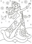 Раскраски о зиме детям