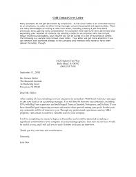 cold cover letter example template cold cover letter example