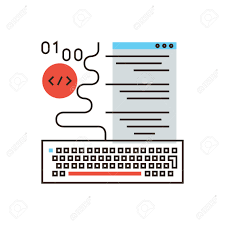 website creation stock photos images 6 063 royalty website website creation thin line icon flat design element of web programming software development