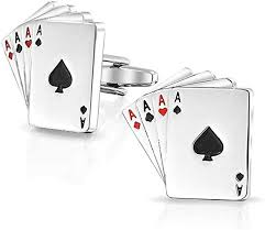 Bling <b>Jewelry</b> Good Luck 4 of A Kind Aces Playing Cards <b>Poker</b> ...