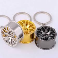 Car Hub Keyring Car Wheel Rim Model Chain Keychain Wheel Tire ...